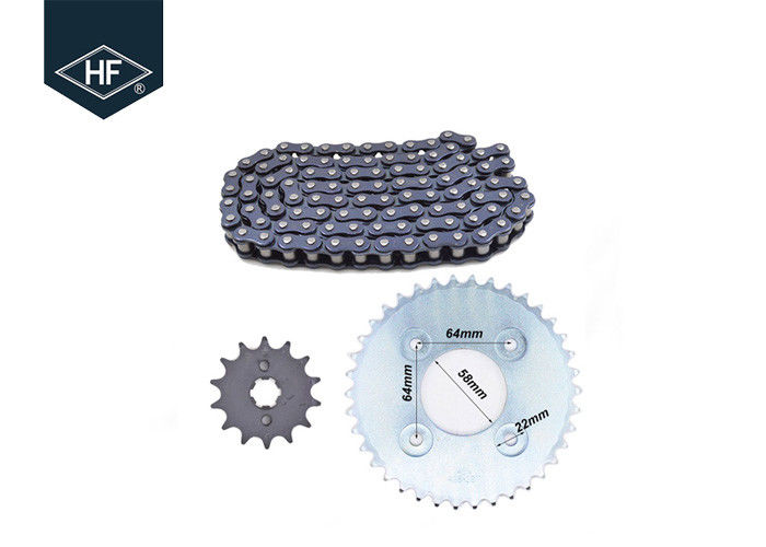 Water Resistant Drive Chains And Sprockets , Fast Sportbike Chain And Sprocket Kits