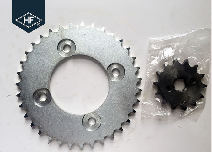 POP100 Motorcycle Chain And Sprocket Sets 428 106L Sandblasting Natural Color